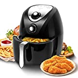 Aigostar Air Fryer, 3.4Qt / 3.2L Electric Hot Air Fryers Oven Oilless with Temperature and Timer Control Cooker for Frying, Roasting, Grilling, Baking, 1400-Watt Non-Stick Fry Basket, BPA Free