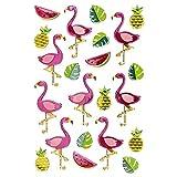Sticker   Aufkleber   Abziehbilder   Stickerbögen mit diversen Motiven   Bogengröße 15 x 10 cm (Flamingos)