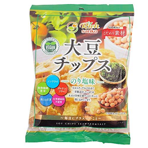 スナック菓子サンコー大豆チップスのり塩味50g10袋