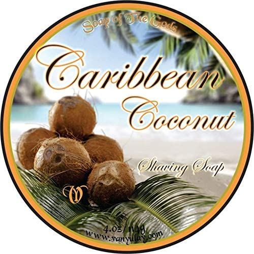 Caribbean Ranking TOP18 Coconut Natural Shaving Soap Sale special price with Cocoa oz Butter 4.0