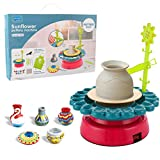 Thanksky Pottery Wheel for Kids, Ceramic Machine with Clay Pottery Wheel for Beginners, Educational Toy for Kids Craft Paint kit(for Kids Aged 8 and Up)