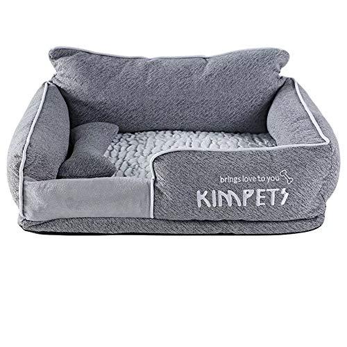 Haustierkorb aus hochwertigem Plüschstoff in 4 4 Größen – waschbares & kratzfestes Haus für Hunde und Katzen (Style 2, M)