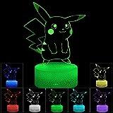 3D Illusion LED Night Light, 7 couleurs à changement progressif Touch...