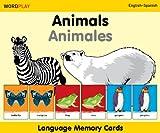 Language Memory Cards - Animals - English-spanish