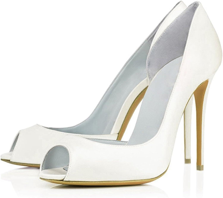 AIWEIYi Womens Peep Toe Stilettos High Heel Dress Pump Black