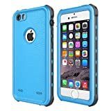 iPhone 5 5S SE Waterproof Case, Upgraded Shockproof Dropproof Dirtproof Rain Snow Proof Full Body Protective Cover IP68...