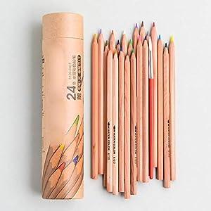 lapiceros SFBBBO 6100/6120 Lápiz de madera de color soluble en agua/aceite para principiantes Aprender arte Pintura…