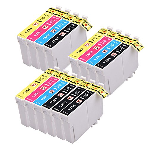 PerfectPrint - 14 Epson Compatible Ink Cartridges Replace Epson T1295