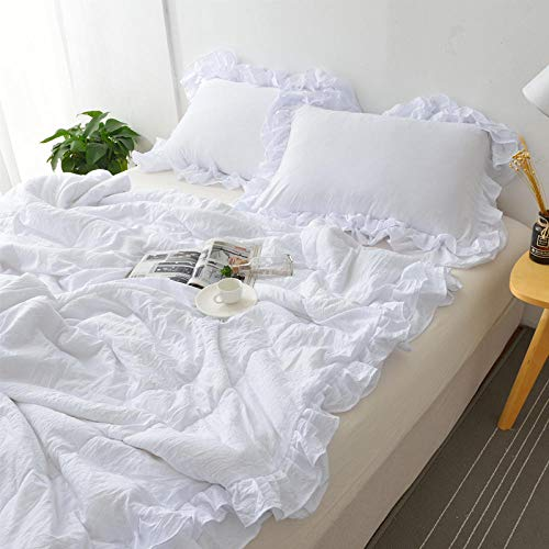 XNSY Hotel Embroidered lace summer quilt thin gift pillowcase-150x200cm_white