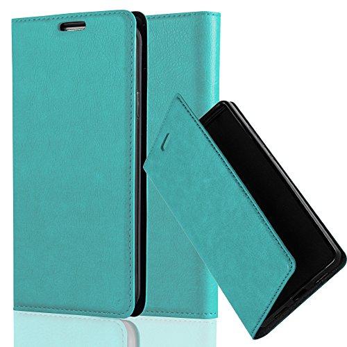 Cadorabo Hülle für Honor 5X / Play 5X / Huawei GR5 in Petrol TÜRKIS - Handyhülle mit Magnetverschluss, Standfunktion & Kartenfach - Hülle Cover Schutzhülle Etui Tasche Book Klapp Style