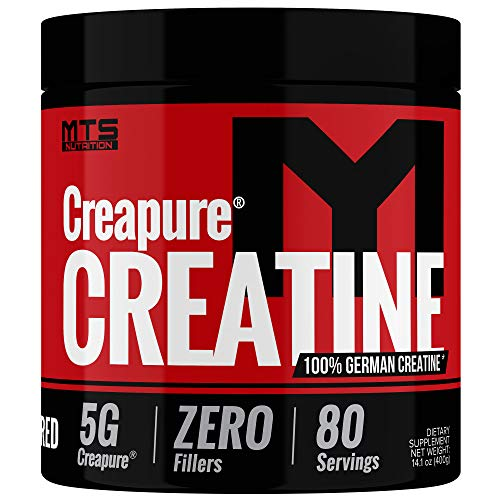 MTS Nutrition Creapure Creatine Powder - Muscle Growth & Recovery Supplement - 80 Servings Unflavored