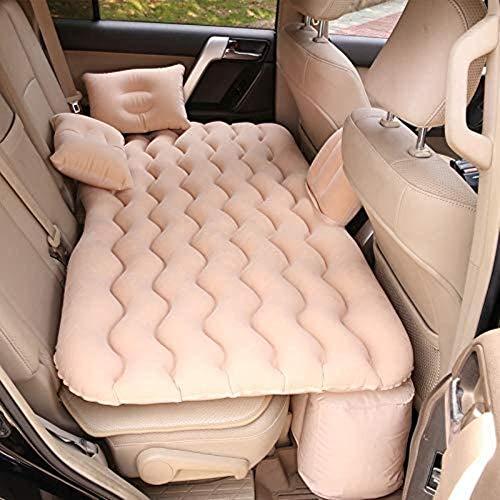 Rest pad auto opblaasbare bed auto draaibank auto opblaasbare bed auto Flocking opblaasbare bed auto achteruitlaat kussen matras reizen bed 5-4 roze