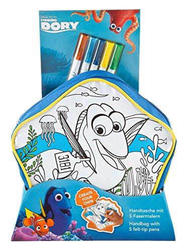 Undercover FDCW2421 - Handtasche zum Bemalen, Disney Pixar Findet Dorie inklusive 5 Fasermalern
