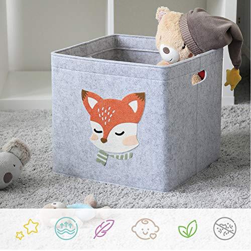 LuckySign-Care Aufbewahrungsbox Kinder Spielzeugkiste, 33x33cm - Welpe