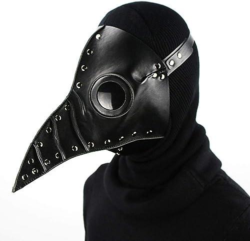 ventas en linea Máscara de de de Halloween Plaga Doctor Adulto Cosplay Props Punk PU Máscara de cuero Vestido de fiesta Disfraz  tienda de venta en línea