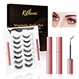Kthumi New Upgraded Magnetic Eyelash Set, Magnetic False Eyelashes And Magnetic Eyeliner Kit, 7 Pair Of Waterproof Magnetic Eyelashes, No Glue Needed, Easy To Use, (Reusable)