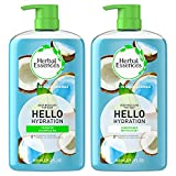 Herbal Essences Moisturizing Shampoo and Conditioner Set, Paraben Free, Hello Hydration, Safe for Color-Treated Hair, Coconut, 29.2 fl oz
