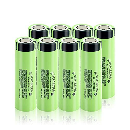 HTRN Batería De Litio De 3.7v 3400mah 18650, Descarga 20a De La Batería Recargable para Las BateríAs De La Linterna 8Pcs