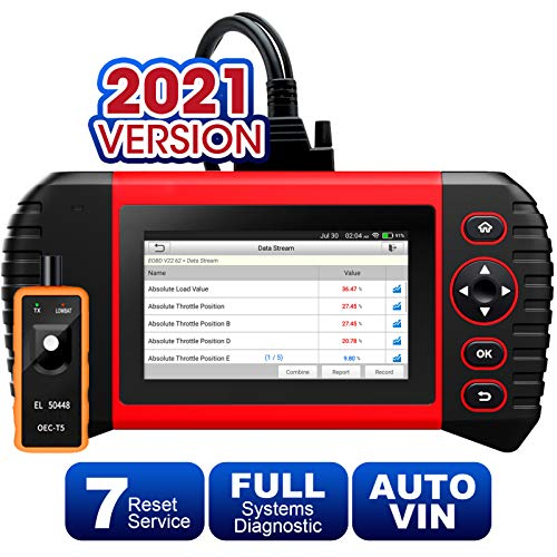 LAUNCH Scan Tool - CRP Touch Pro Elite OBD2 Scanner with All System Diagnostic Scanner 7 Reset Oil SAS EBP BMS Reset DPF ABS Bleeding Throttle Adaptation 7.0 Android Wi-Fi Update, TPMS Activation Tool