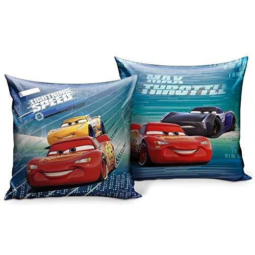 Star Disney Cars & Planes - Cuscino stampato, dimensioni: 35 x 35 cm