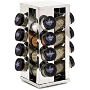 Kamenstein 5084920 Heritage 16-Jar Revolving Countertop Spice Rack Organizer with Free Spice Refills for 5 Years