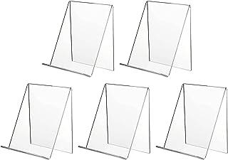 5x Présentoirs de Livre en Acrylique Support Livre Transparent Support pour Livre Carte Menu, Supports de Livres en Acryli...