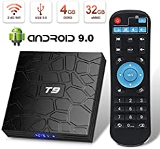 Android TV Box, HAOSIHD T9 Android 9.0 TV Box, 4GB RAM 32GB ROM RK3328 Quad-core, Support 4K Full HD 2.4Ghz WiFi BT 4.1 Smart TV Box