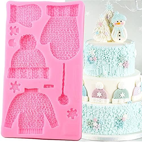 XIAOLING Moldes de silicona para hacer punto de la ropa del bebé Birrhday Cupcake Topper Fondant Cake Decoration Tools Candy Chocolate Gumpaste Moldes