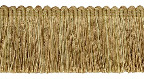 DÉCOPRO 5 Yard Value Pack of Veranda Collection 2 inch Brush Fringe Trim|Camel Beige, Straw, Harvest Gold |Style#: 0200VB |Color: Sa