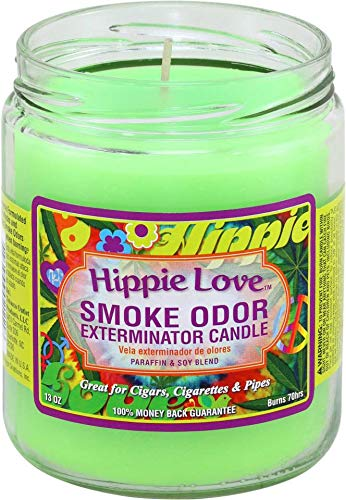 Smoke Odor Exterminator 13oz Jar Candle, Hippie Love, 13 oz