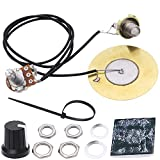 AnFun Pickup Wiring Kit Electric Pickup Piezo 50mm Sensitive Transducer Pickups Prewired Amplifier with 6.35mm Output Jack for Cigar Box Guitar Violin Ukulele Banjo and Acoustic Instruments