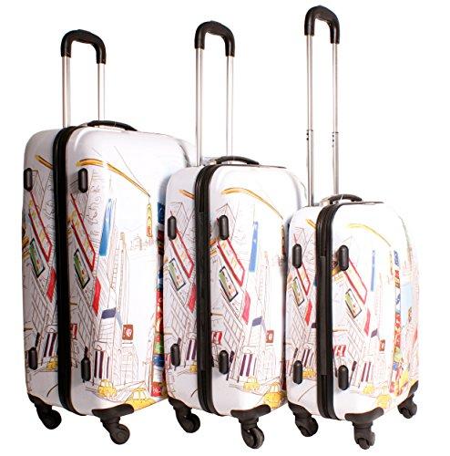 2408 ciudad de Nueva York color blanco Suitcase Multicolor