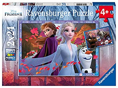 Ravensburger Disney Frozen 2 Frosty Adventures 2 X 24 Piece Jigsaw Puzzle for Kids - Value Set of 2 Puzzles in a Box - Every Piece is Unique, Pieces Fit Together Perfectly