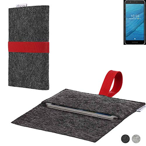 flat.design Handy Hülle Aveiro für Fairphone Fairphone 3 passgenaue Filz Tasche Case Sleeve Made in Germany