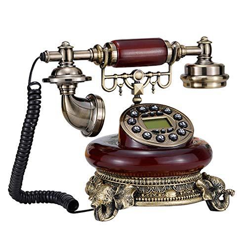 Cajolg Teléfono Fijo Teléfono Decorativo Antiguo Teléfono Fijo Hogar Moda Oficina Creativa Fijo Europeo Antiguo Retro Resina Teléfono Fijo Teléfono de Escritorio
