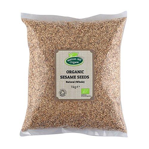 Semillas de sésamo enteras orgánicas (naturales) 1kg de Hatton Hill Organic