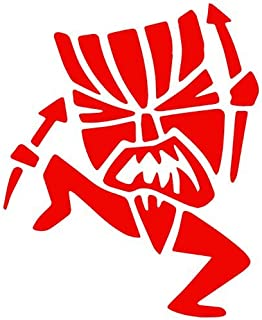 BD USA Tiki Witch Doctor Decal Sticker (red), Decal Sticker Vinyl Car Home Truck Window Laptop
