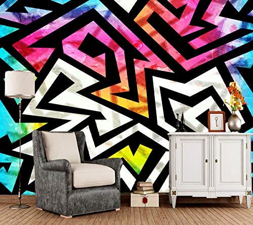 Children's Wallpaper, Music Geometric Murals for Boys and Children's Room Background Home Decor Wallpaper 200(L) x140(H) cm