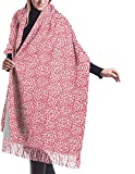 Irener Bufanda de mantón, Christmas Deer Pattern Winter Women Cashmere Shawl Wraps Scarf