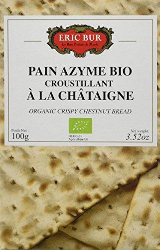 ERIC BUR Pain Azyme Bio Croustillant à la Châtaigne 100 g - Lot de 6