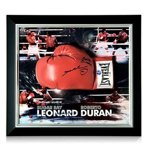 exclusivememorabilia.com Guante de Boxeo Firmado por Sugar Ray Leonard y Roberto Duran....