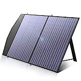 ALLPOWERS Cargador de panel solar portátil de 100 vatios para computadoras portátiles, cargador solar de celda solar plegable para camping al aire libre para generador solar/estación de energía