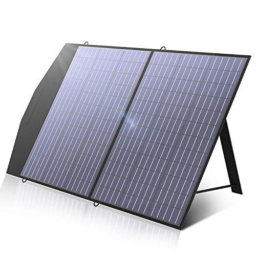 ALLPOWERS Faltbares Solarpanel 100W Solarmodul Speziell für Tragbare Powerstation und Outdoor Solargenerator Hoch Leistung Akku für Camping Garten Laptop