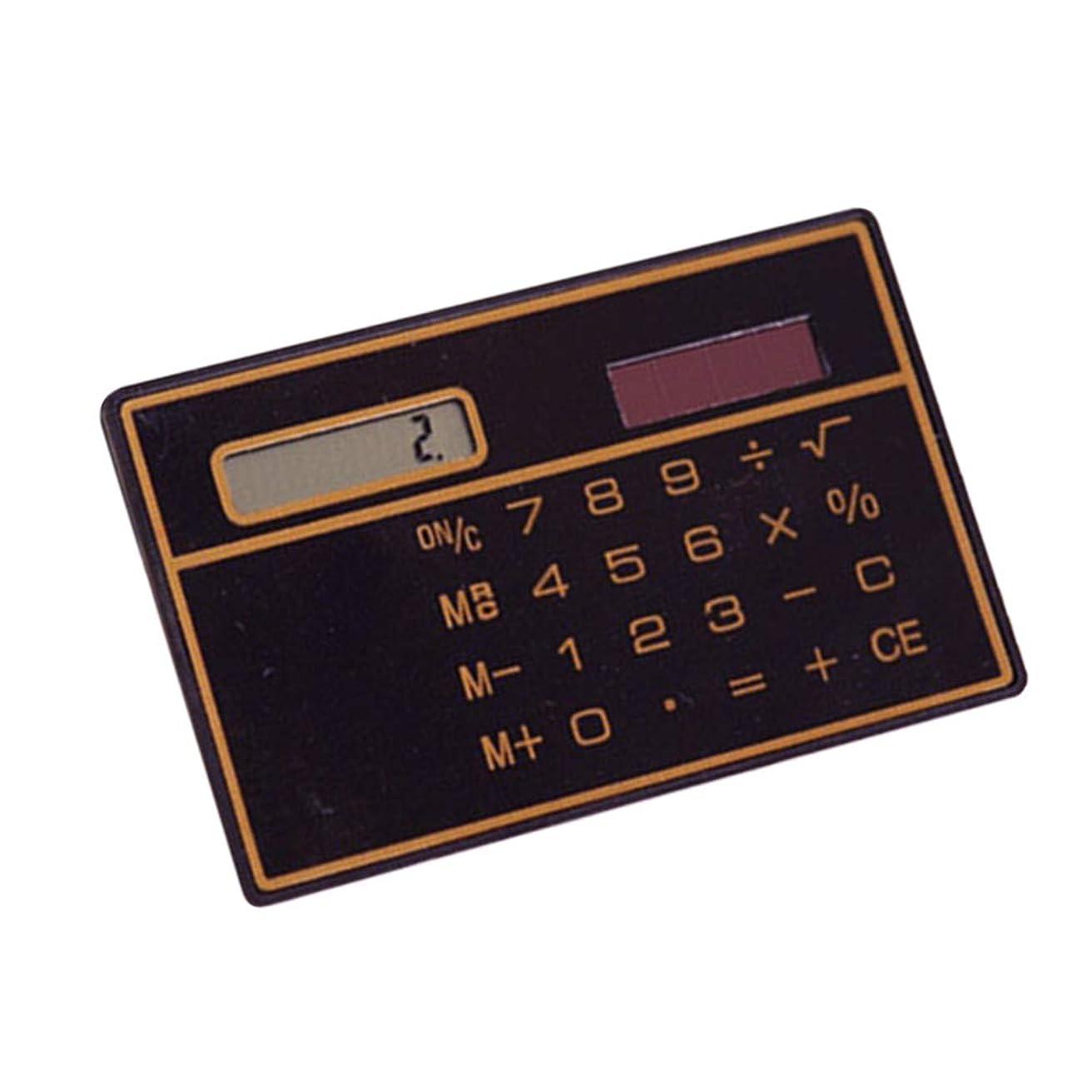 カカドゥ考え正気dulawei3 ポケット ソーラーパワー スリム クレジットカードサイズ 8桁 ホーム オフィス ミニ計算機 ベーシック ブラック