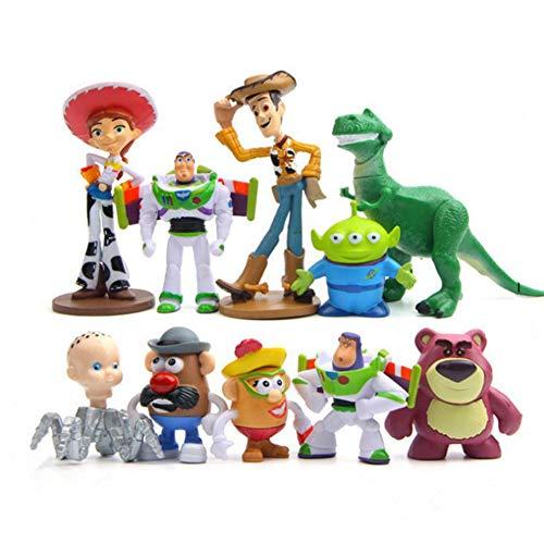 HUANIU Modelo de Juguete de El Mini Versión De Toy Story 10 Enfriar Muñecas Animado Acción Muñeca Muñeca Modelo Modelo De Juguete Infantil De Navidad Regalo De Escritorio Adornos A