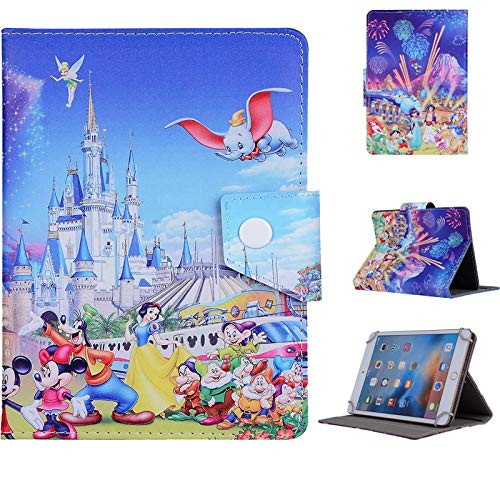 Microgadget Cartoon Protective Cover for Amazon Kindle 7 (2015/2017/2019) Universal for Tablet 7.1' Magnetic Function Smart Stand Flip Cover (Dumbo Elephant)