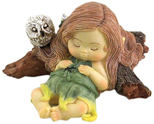 Top Collection Miniature Fairy Garden and Terrarium Sleeping Little Fairy