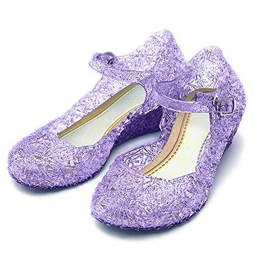 Katara - Princess Frozen - Sandales à talons compensés - Fille, Violet (lilas), 29 EU (CN 31)
