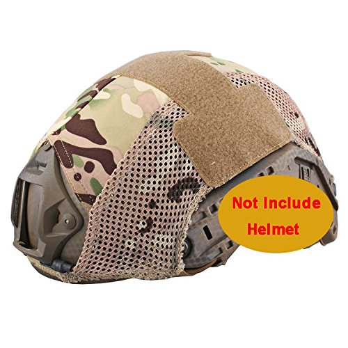 Casco táctico militar para Paintball cubierta combate rápido BJ PJ cubierta Multicam...