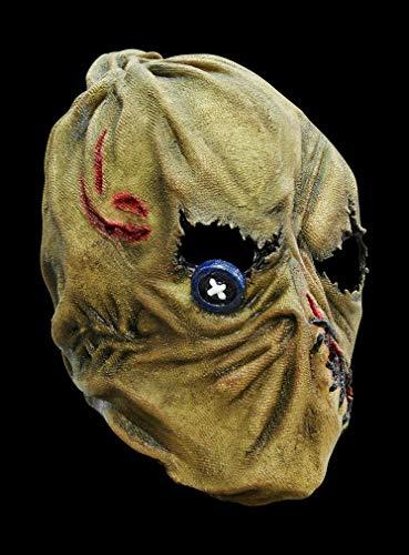 Vogelscheuche Maske des Grauens aus Latex - Erwachsenen Horror Kostüm Vollmaske - ideal für Halloween, Karneval, Motto- & Grusel-Party